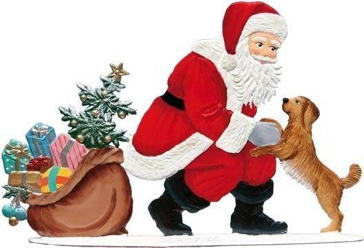 Zinnfigur Nikolaus hat Besuch