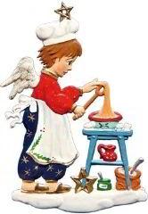 Zinnfigur Engel Weihnachtsbäcker