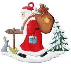 Zinnfigur Nikolaus im Wald, zum Hängen