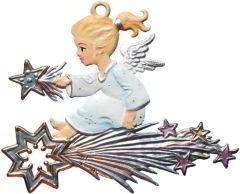 Zinnfigur Engel auf Kometstern
