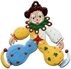 Zinnfigur Wilhelm Schweizer Clown, zum Hängen