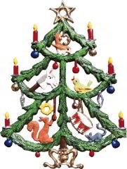Zinnfigur Christbaum mit Spielzeug