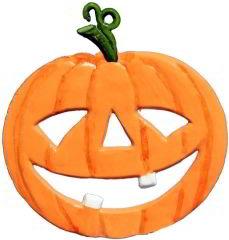 Zinnfigur Halloweenkürbis, zum Hängen