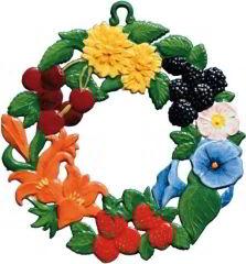 Zinnfigur Blumenkranz/Sommer, zum Hängen