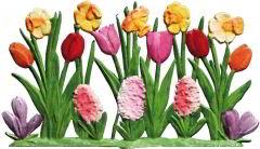Zinnfigur Tulpen, Narzissen, zum Stellen