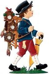 Zinnfigur Wilhelm Schweizer Uhrenhändlerjunge, zum Stellen