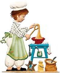 Zinnfigur Bäckerjunge, zum Stellen