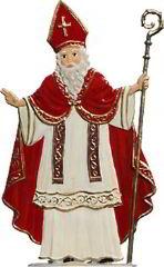 Zinnfigur St. Nikolaus, zum Stellen