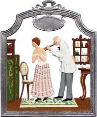 Zinnfigur Arzt, zum Hängen