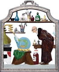 Zinnfigur Chemiker, zum Hängen