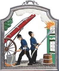 Zinnfigur Wilhelm Schweizer Feuerwehr, zum Hängen