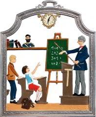Zinnfigur Lehrer, zum Hängen
