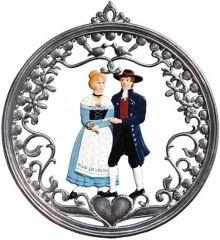 Zinnfigur Wilhelm Schweizer Hochzeitspaar, zum Hängen