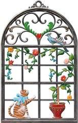 Zinnfigur Wilhelm Schweizer Katzenfenster, zum Hängen