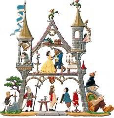 Zinnfigur Wilhelm Schweizer kleines Märchenschloß, zum Hängen