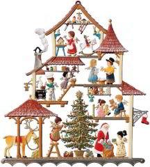 Zinnfigur Wilhelm Schweizer Weihnachtshaus, zum Hängen