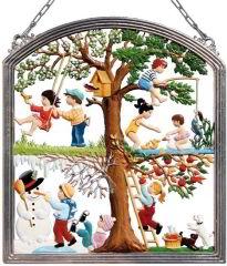 Zinnfigur Wilhelm Schweizer Kinderfreuden, zum Hängen
