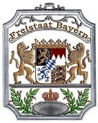 Zinnfigur Wilhelm Schweizer Freistaat Bayern Wandbild, zum Hängen