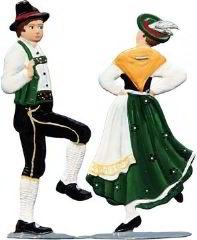 Zinnfigur Tanzpaar, zum Stellen